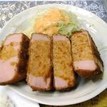 レストランばーく - ハムカツ(4切れ)