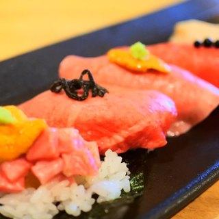 焼肉屋の肉寿司だから極上肉で創る。これぞ本物の肉寿司。