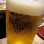 北の味紀行と地酒 北海道 - 生ビールがプレモルなのが嬉しいっ!