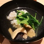 Hoshino - 鱧 松茸 鍋風に