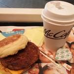 マクドナルド - ソーセージマフィン&ホットコーヒー