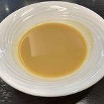 ぐりる樹林亭 - ランチのスープ