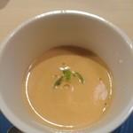 日本酒 福 - エビのポタージュスープ