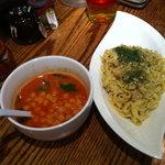 あかなす家 - カルボーナラつけ麺