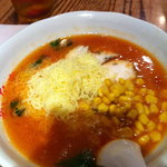 あかなす家 - チーズトマト麺