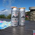 金太郎茶屋 - ビールと富士山
