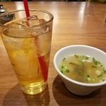 95713752 - ジャスミンティーとスープ