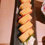 はるちき - 明太チーズ出汁巻き。かなりボリューミーでふわふわです!!