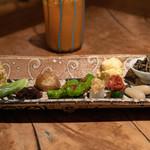 カゼトソラ - 2018.11 季節の有機野菜の盛り合わせ10種類
