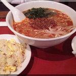 Saimien - ゴマタンタン麺+半チャーハンセット(2011/9/20)