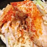 油そば春日亭 - 鳥豚油そば 並盛 (680円)
