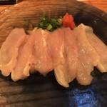 ぐんぼう - 軍鶏の刺身 薄造り