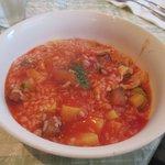 95726249 - 実だくさん野菜のトマトスープリゾット2018.10.28