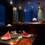 新宿 夜景 M PRIME - 内観写真:個室感覚の席
