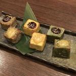 魚里ゐ夷 - 京生麩の三色田楽