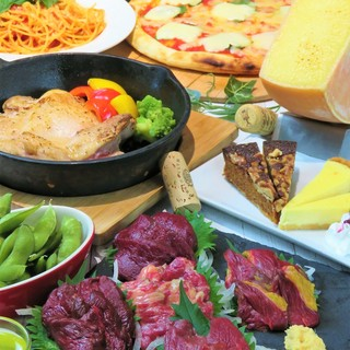 絶品料理とドリンクが楽しめる贅沢なコースは、2,500円~!
