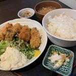 正味亭 尾和 - カキフライ定食1,100円+ごはん大盛