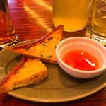 モンスーンカフェ - 海老トースト&生ビール&お茶