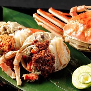 旬の食材をご用意しております【蟹・河豚・鮑】など