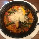 エル・チャテオ - 野菜とチーズのパエリア(税込み1296円)