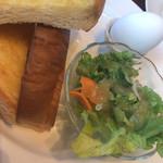 UCCカフェプラザ - トースト&ゆで卵&サラダセット