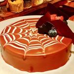 95752224 - 蜘蛛の巣のチョコレートムース@グランマルニエ風味のチョコレートムースが滑らか