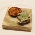 ベルソー - 料理写真:玉ねぎのタルト、蛤のベニエ