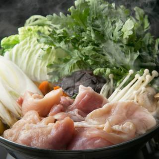 ★寒い時期にお勧め『塩で食べる名古屋コーチン鍋コース』