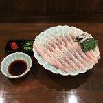 うなぎの豊川 - 鰻のうす造り   ¥1100
