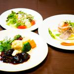 京の野菜とジビエの町家レストラン むすびの - ジビエランチコース