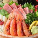 もつ鍋 清水 - 鮮魚の造り盛り合わせ