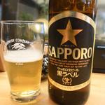 寿司・うなぎ 羽子吾 - ビール(小瓶)
