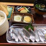 寿司・うなぎ 羽子吾 - 秋刀魚御膳