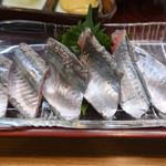 寿司・うなぎ 羽子吾 - 秋刀魚御膳(秋刀魚の刺身)