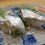 寿司・うなぎ 羽子吾 - 秋刀魚御膳(秋刀魚の握り)