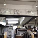 麺屋はなび - 店内写真  サイン入り色紙いっぱい