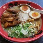 天下一品 - 料理写真:【角煮ラーメン + 半熟味玉】¥1010 + ¥110