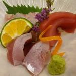 和の食彩 古城 - 料理写真:刺身三点盛り 980円