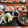 魚屋の寿司 東信 - 料理写真:握り寿司と天麩羅の定食1480円