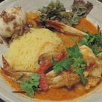 Supaishikareroka - 限定(『ゲーン・ソム・プー』酸味のある蟹のカレー)+るーろー煮卵