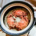 銀座 しのはら - ☆上海蟹の炊込みご飯