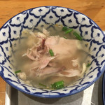 カオマンガイキッチン - セットのスープ