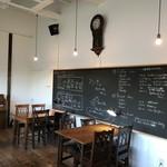 ヒカリノカフェ - お店の案内の黒板(^^)