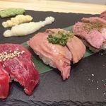 95776831 - 肉寿司4貫盛り