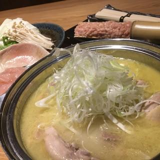 〜水炊き〜黄金の鶏白湯スープで