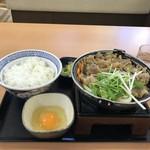 吉野家 - 料理写真:今年もお待ちかねの「牛すき鍋膳定食」(2018.11.3)