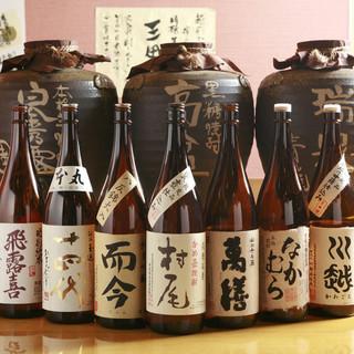 【こだわりの、日本酒・焼酎が豊富】
