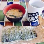九州産直角打ち しらすくじら - 料理写真:※店内で食べると味噌汁付き。