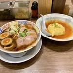 サバ6製麺所 - サバ醤油そば天津飯セット味玉