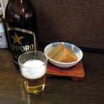 なごみ - 大瓶ビールと厚揚げ